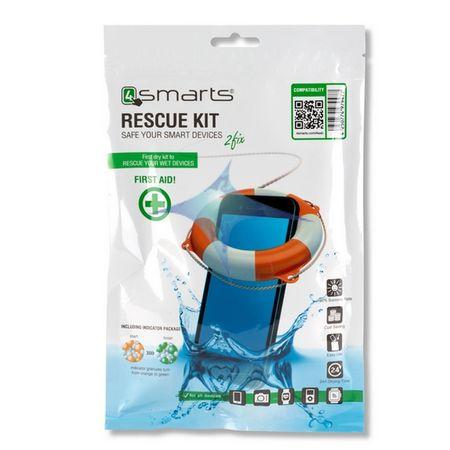4smarts - Rescue Kit für Smartphones bis 6 Zoll - Rettung nass gewordener Handys