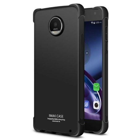 Imak - Motorola Moto Z2 Play Handyhülle - Case aus TPU Plastik - inklusive Schutzfolie - metal black