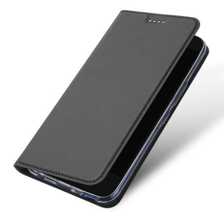 Dux Ducis - HTC U11 Life Hülle - Case aus Leder - Skin Pro Series - grau