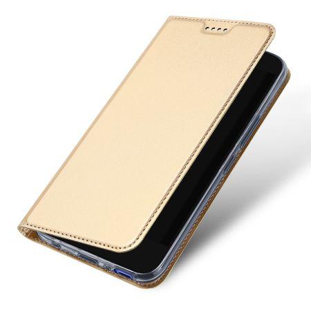 Dux Ducis - HTC U11 Life Hülle - Case aus Leder - Skin Pro Series - gold