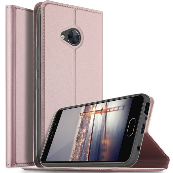 htc u11 life handyh lle magnetisches case aus leder mit visitenkartenfach rosegold. Black Bedroom Furniture Sets. Home Design Ideas