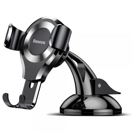 Baseus - Universelle Auto KFZ Halterung drehbar 360° - für Armaturenbrett - schwarz/silber