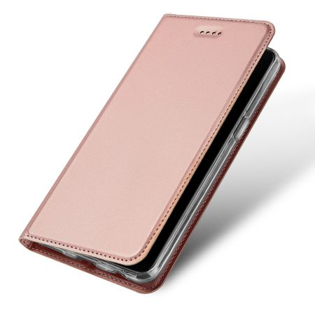 Dux Ducis - OnePlus 5T Hülle - Handy Bookcover - Skin Pro Series - rosegold