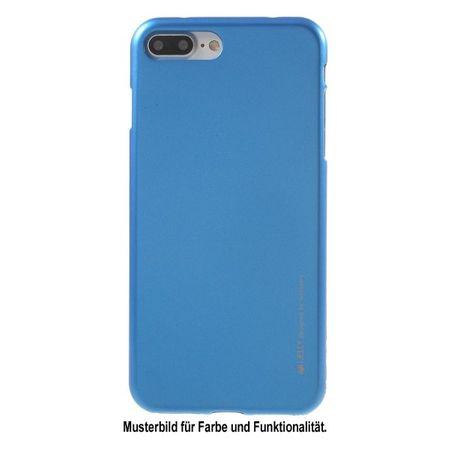 Goospery - Asus Zenfone 4 Selfie Pro Handyhülle - TPU Soft Case - i Jelly Metal Series - blau