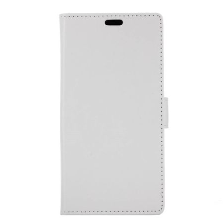 Huawei Honor View 10 Handyhülle - Crazy Horse Leder Case - mit Standfunktion - weiss