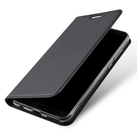 Dux Ducis - Huawei Honor View 10 Handy Hülle - Case aus Leder - Skin Pro Series - grau