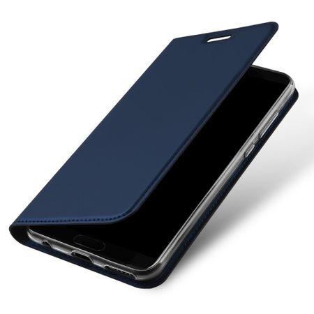 Dux Ducis - Huawei Honor View 10 Handy Hülle - Case aus Leder - Skin Pro Series - blau