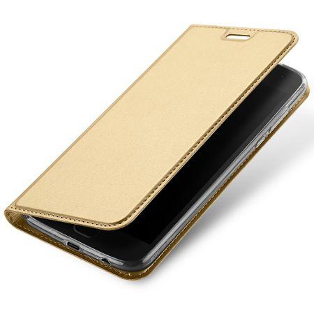 Dux Ducis - Motorola Moto Z2 Force Handy Hülle - Case aus Leder - Skin Pro Series - gold