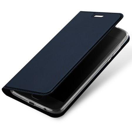 Dux Ducis - Motorola Moto Z2 Force Handy Hülle - Case aus Leder - Skin Pro Series - blau