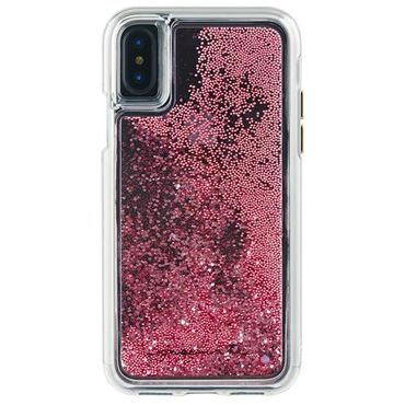 Case-Mate - iPhone X Hülle - Liquid Glitter Backcover - WATERFALL - rosegold