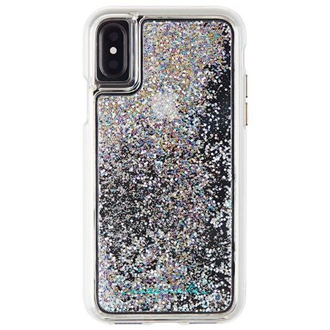 Case-Mate Case-Mate - iPhone XS / X Hülle - Liquid Glitter Backcover - WATERFALL - violett