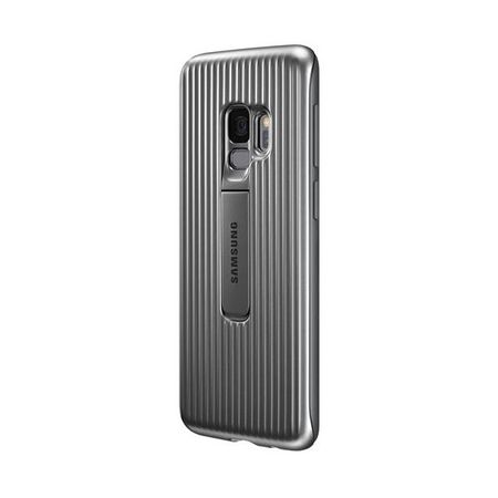 Samsung - Original Galaxy S9 Hülle - Protective Standing Cover - EF-RG960CSEGWW - silber