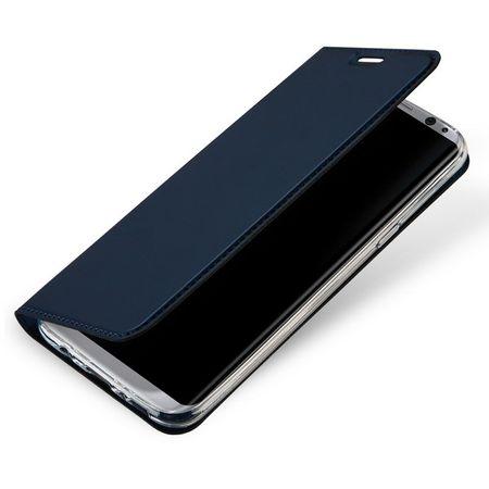 Dux Ducis - Samsung Galaxy S8 Plus Hülle - Handy Bookcover - Skin Pro Series - blau