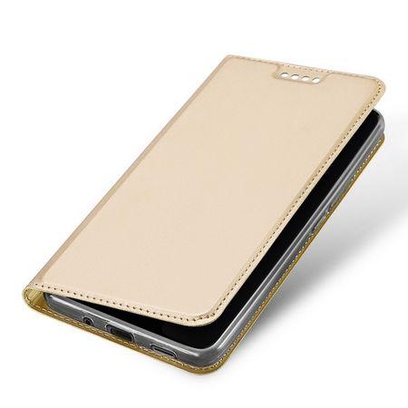 Dux Ducis - HTC U11 Plus Hülle - Case aus Leder - Skin Pro Series - gold