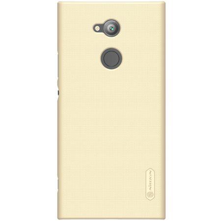 Nillkin - Sony Xperia XA2 Ultra Hülle - Plastik Case - Super Frosted Shield Series - inkl. Schutzfolie - gold