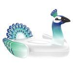 Aufblasbare XL Pfau Luftmatratze - Schwimminsel für Erwachsene