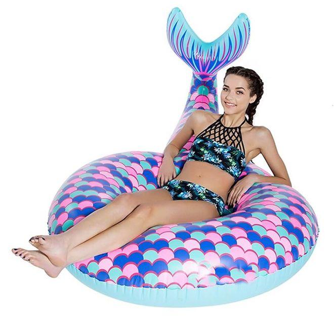 MU Classic Aufblasbare Luftmatratze Meerjungfrauenflosse - Schwimmring