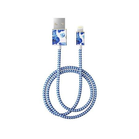 iDeal of Sweden - Lightning Lade- und Datenkabel - MFI zertifiziert - 1m lang - Baby Blue Orchid Cable - mehrfarbig