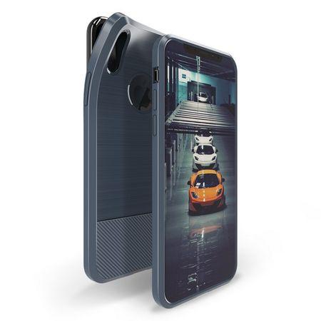 Dux Ducis - iPhone XS / X Hülle - Mojo TPU Case mit Magnet - blau