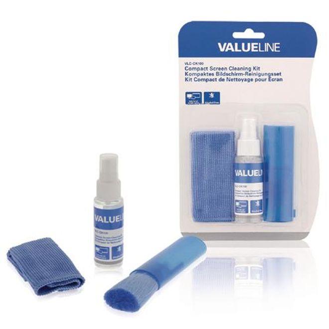 Valueline Valueline - Display-Reinigungsspray Set für Smartphones, Tablets, Laptops, Computer-Bildschirme (35 ml)