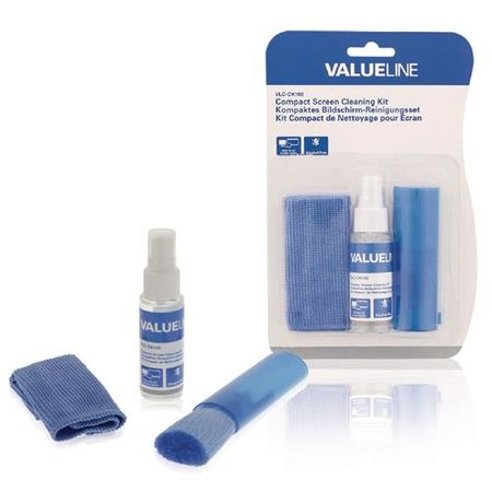 Valueline - Display-Reinigungsspray Set für Smartphones, Tablets, Laptops, Computer-Bildschirme (35 ml)
