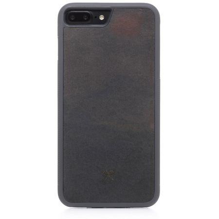 WOODCESSORIES - iPhone 8 Plus / 7 Plus Hülle - Stone Edition - Volcano Black - mehrfarbig