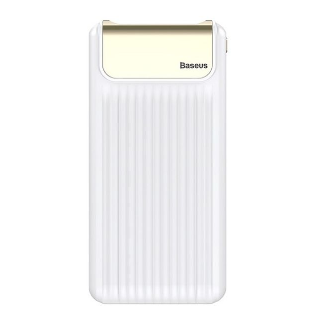Baseus Baseus - Power Bank - 10000mAh - Quick Charge 3.0 - Thin Digital - weiss