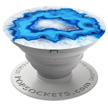 PopSockets - Finger Griff Halterung für Handys / Tablets - (96546) Ice Blue Agate