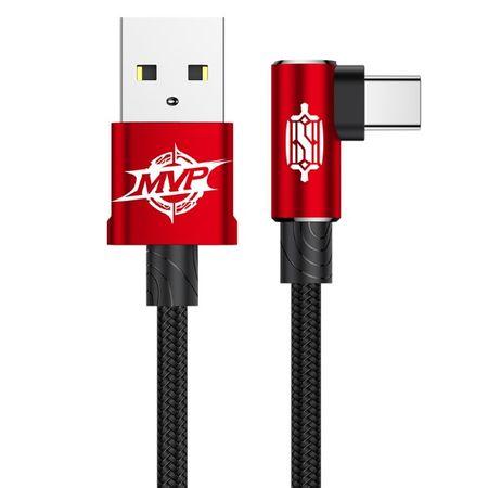 Baseus - USB Typ-C Lade- und Datenkabel (1 m) - MVP Elbow 90 Grad-Winkel - rot