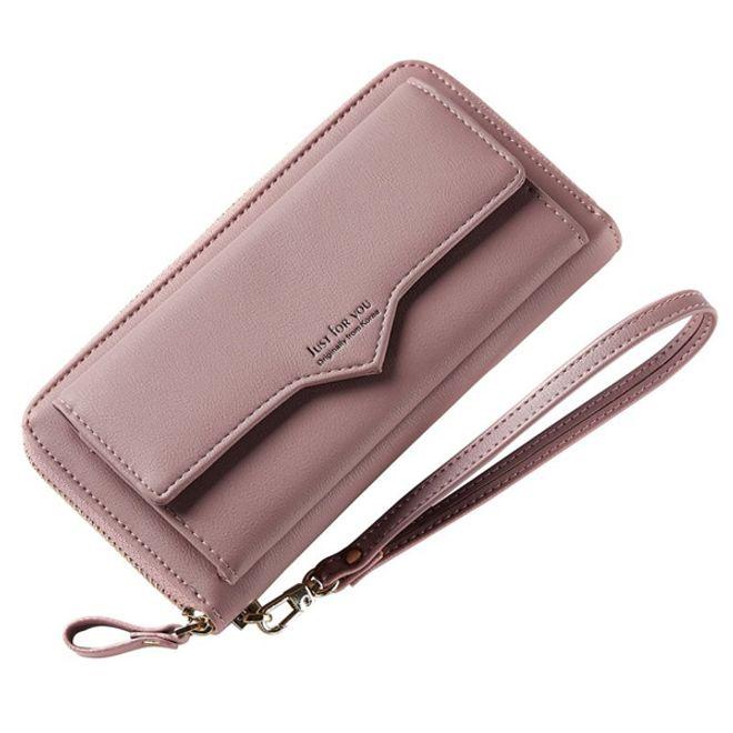 MU Prime Universelle Handy Clutch Portemonnaie mit Extrafach - Altrosa