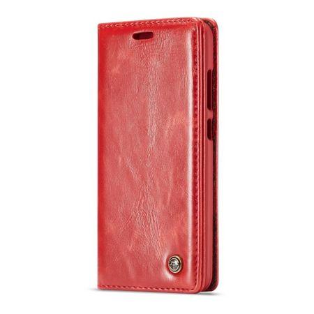 Caseme - OnePlus 6 Handy Hülle - Klassisches Leder Case - rot