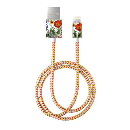 iDeal of Sweden - Lightning Lade- und Datenkabel - MFI zertifiziert - 1m lang - Flower Meadow Cable - mehrfarbig