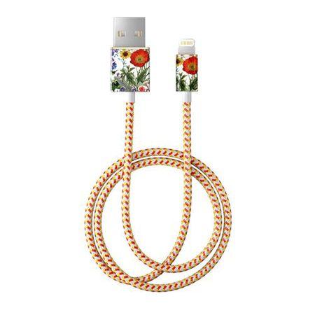 iDeal of Sweden - Lightning Lade- und Datenkabel - MFI zertifiziert - 1m lang - Flower Meadow Cable - mehrfarbig