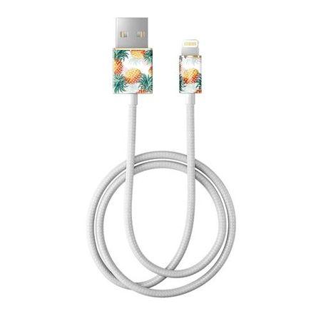 iDeal of Sweden - Lightning Lade- und Datenkabel - MFI zertifiziert - 1m lang - Pineapple Bonanza Cable - mehrfarbig