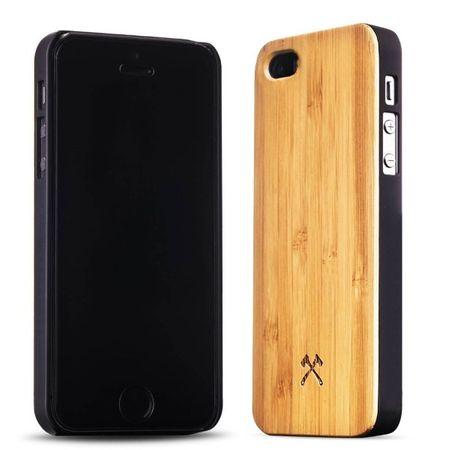WOODCESSORIES - iPhone SE / 5S / 5 Hülle - Echtholz Backcover - EcoCase - Bambus