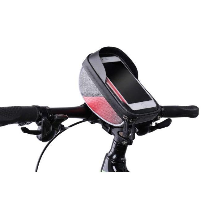 Wheel Up Wheel Up - Nylon Fahrrad Halterung - wasserdicht und touchfähig - für Handys bis 6 Zoll - rot