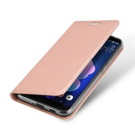 Dux Ducis - HTC U12 Plus Hülle - Handy Bookcover - Skin Pro Series - rosegold