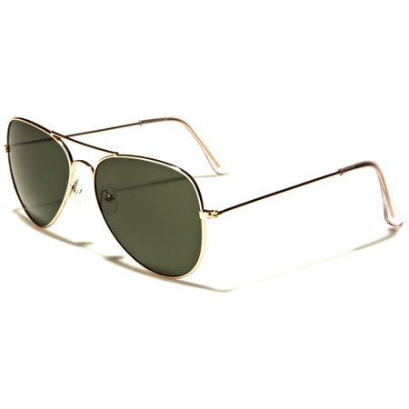 Air Force - Herren / Damen Sonnenbrille Pilotenbrille - Aviator - schwarz/gold