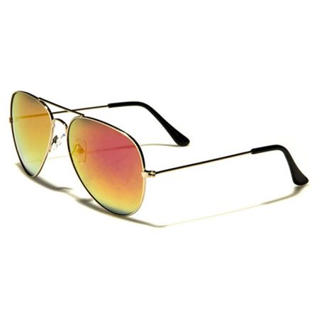 Air Force - Herren / Damen Sonnenbrille Pilotenbrille - Aviator Coloured - gelb/gold
