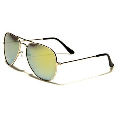 Air Force - Herren / Damen Sonnenbrille Pilotenbrille - Aviator Coloured - grün/gold