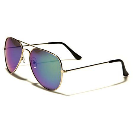 Air Force - Herren / Damen Sonnenbrille Pilotenbrille - Aviator Coloured - violett/gold