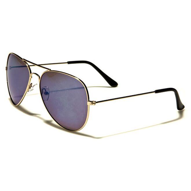 Air Force Air Force - Herren / Damen Sonnenbrille Pilotenbrille - Aviator Coloured - blau/gold
