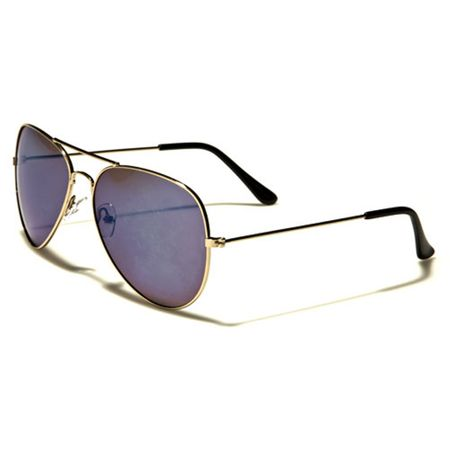 Air Force - Herren / Damen Sonnenbrille Pilotenbrille - Aviator Coloured - blau/gold