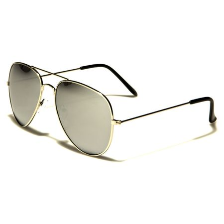 Air Force - Herren / Damen Sonnenbrille Pilotenbrille - Polarized Classics - grau/gold