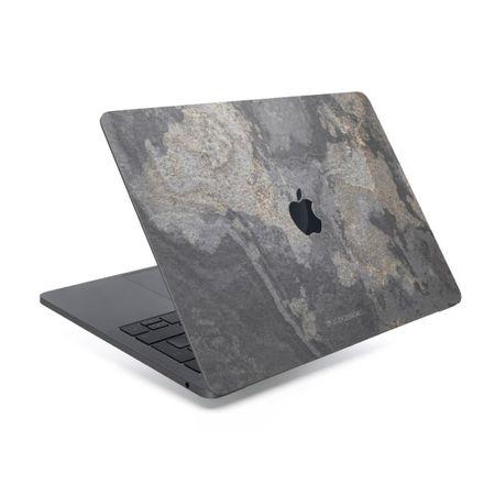 WOODCESSORIES - Macbook 15 Pro (ab 2016) Echtstein Skin - Stone Edition - Granite Gray - grau