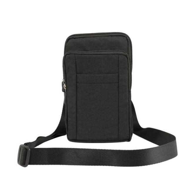 MU Classic Universelle Outdoor Schultertasche für Handys bis 7 Zoll - schwarz