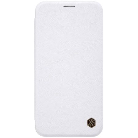 Nillkin - iPhone XS Max Hülle - Leder Book Case - Qin Series - weiss