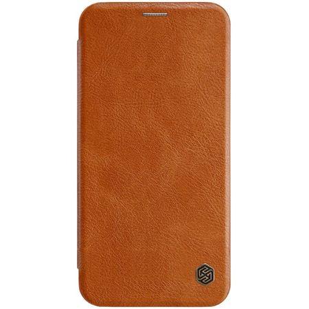 Nillkin - iPhone XS Max Hülle - Leder Book Case - Qin Series - braun