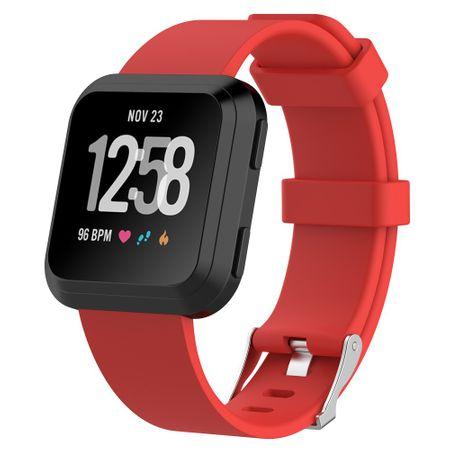 Fitbit Versa Silikon TPE Ersatz Armband - Grösse L - rot