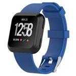 Fitbit Versa Silikon TPE Ersatz Armband - Grösse L - dunkelblau